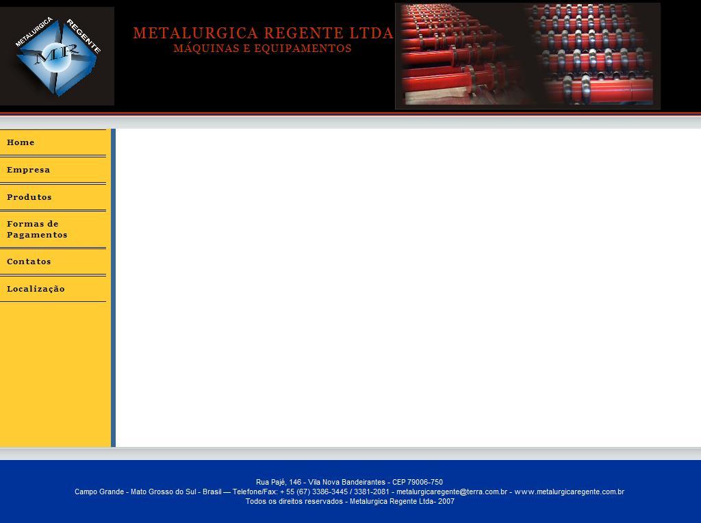 ..:: Metalurgica Regente Ltda ::..