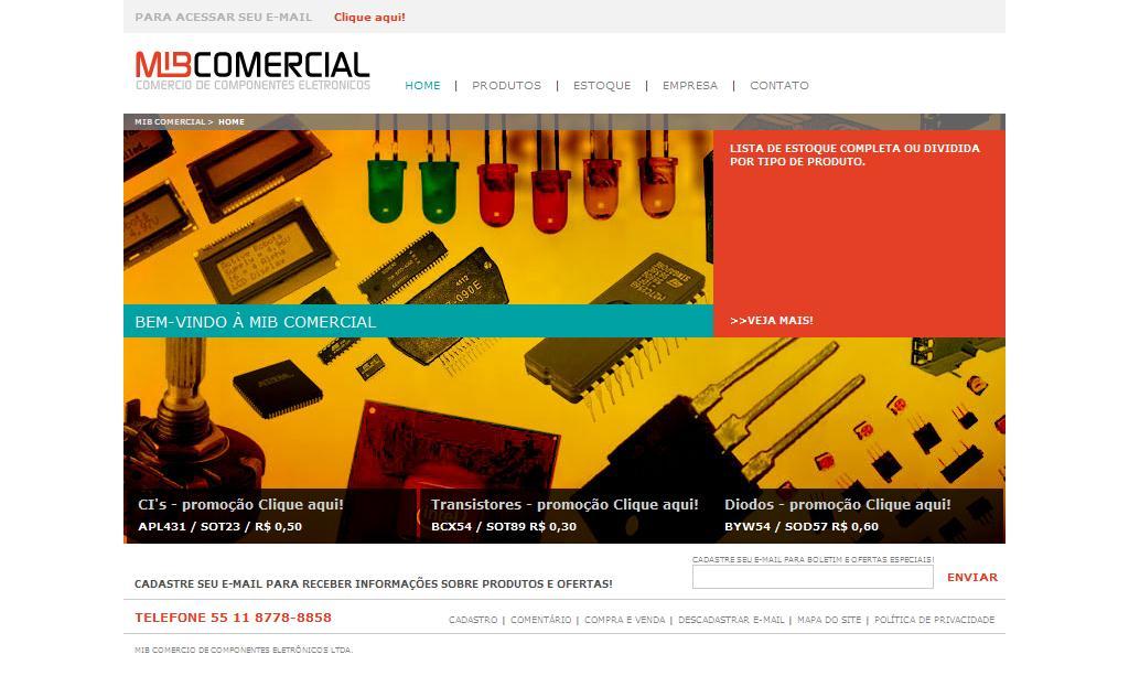 MIB Comercio de Componentes Eletrônicos LTDA. - Home