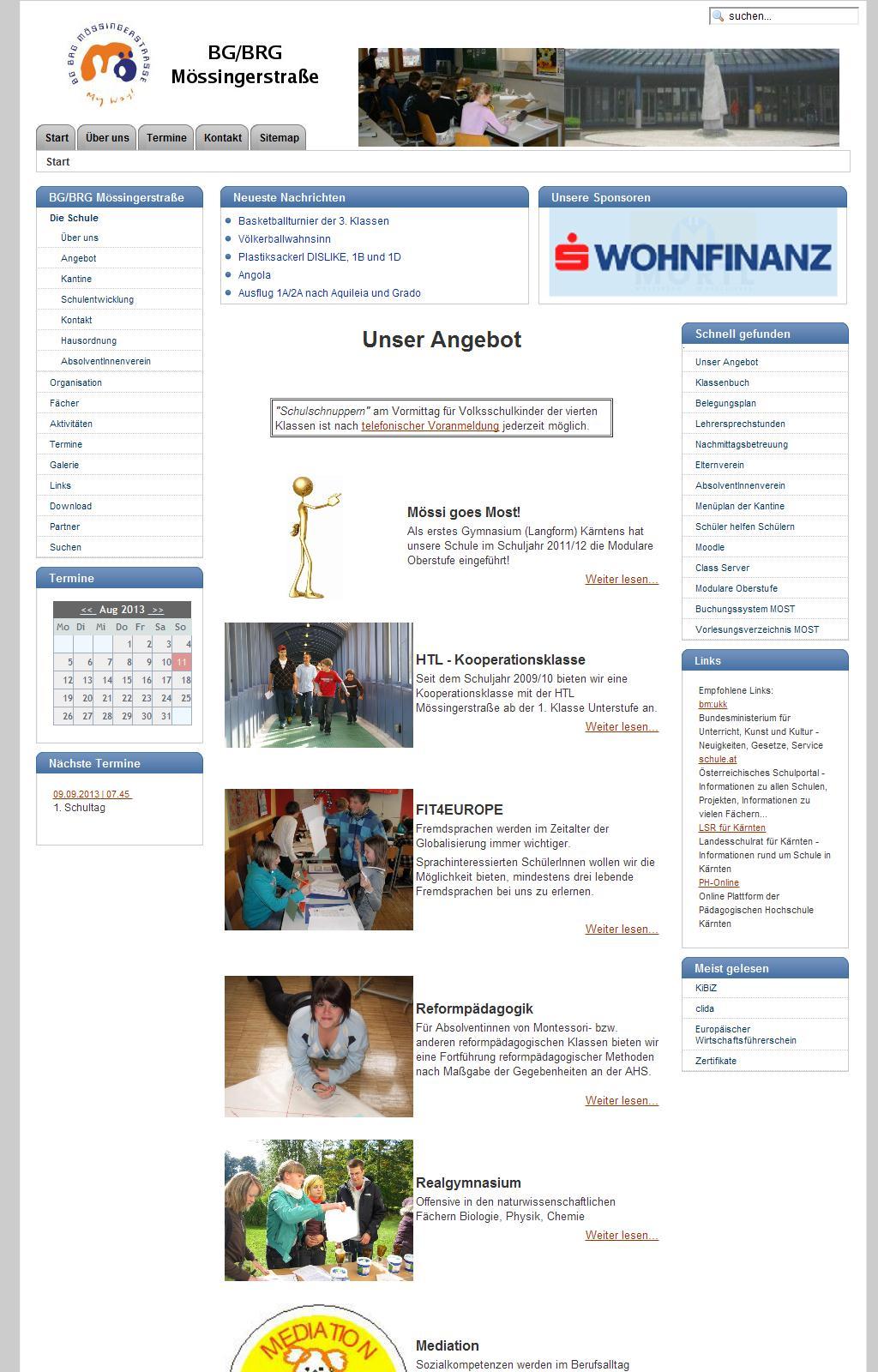 Willkommen am BG/BRG Mössingerstraße