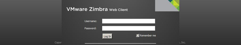 Zimbra Web Client Log In