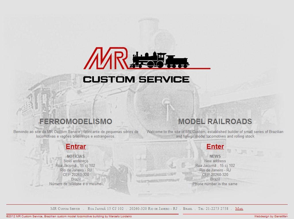MR Custom Service. Brazilian custom model locomotive building by Marcelo Lordeiro