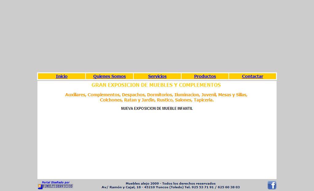 Sitios web de muebles alejo trade nosis - Muebles en yuncos ...