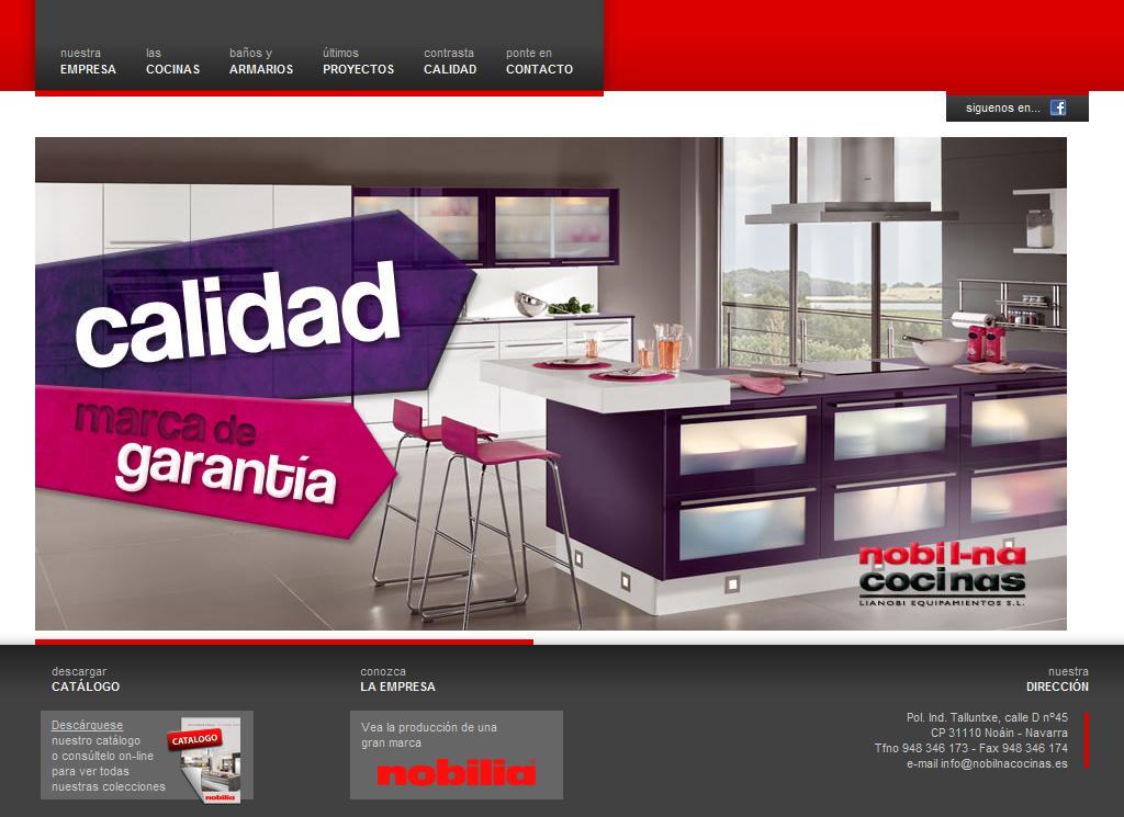 Sitios web de NOBIL-NA COCINAS | Trade Nosis
