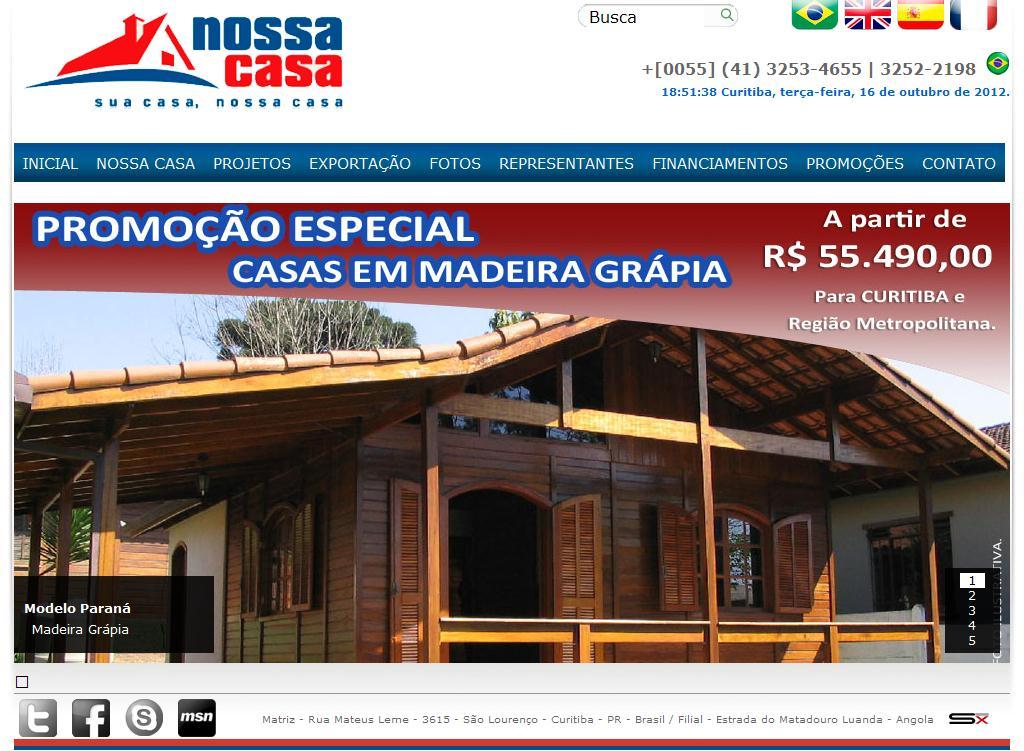 Nossa Casa Pré - Casas Pré Fabricadas de Madeira - exportação de kits pré-fabricados de madeira e de concreto em curitiba para a África e Caribe - madeiras, projeto, projetos, pré-fabricada.