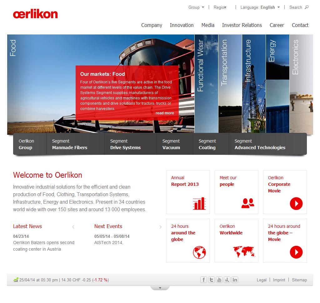 Oerlikon Group – Barmag, Neumag, Graziano, Fairfield, Leybold Vacuum, Balzers, Metco, Systems « Oerlikon Corporate