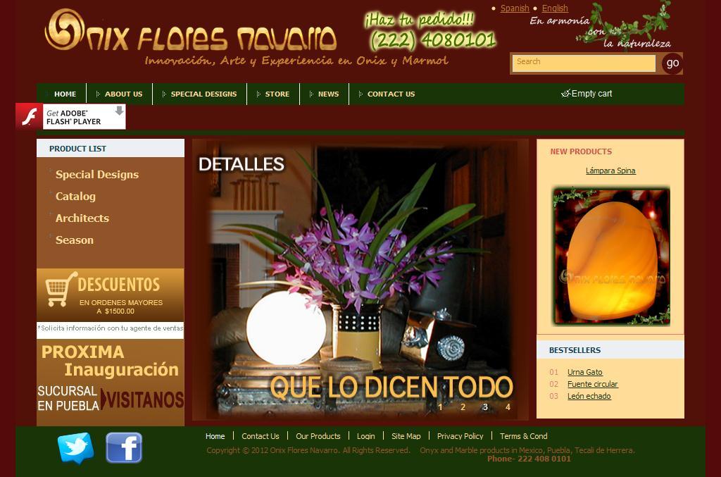 Productos de Onix en Puebla, Tecali :: Arte en Onix y Marmol  Mexico :: Flores Navarro.