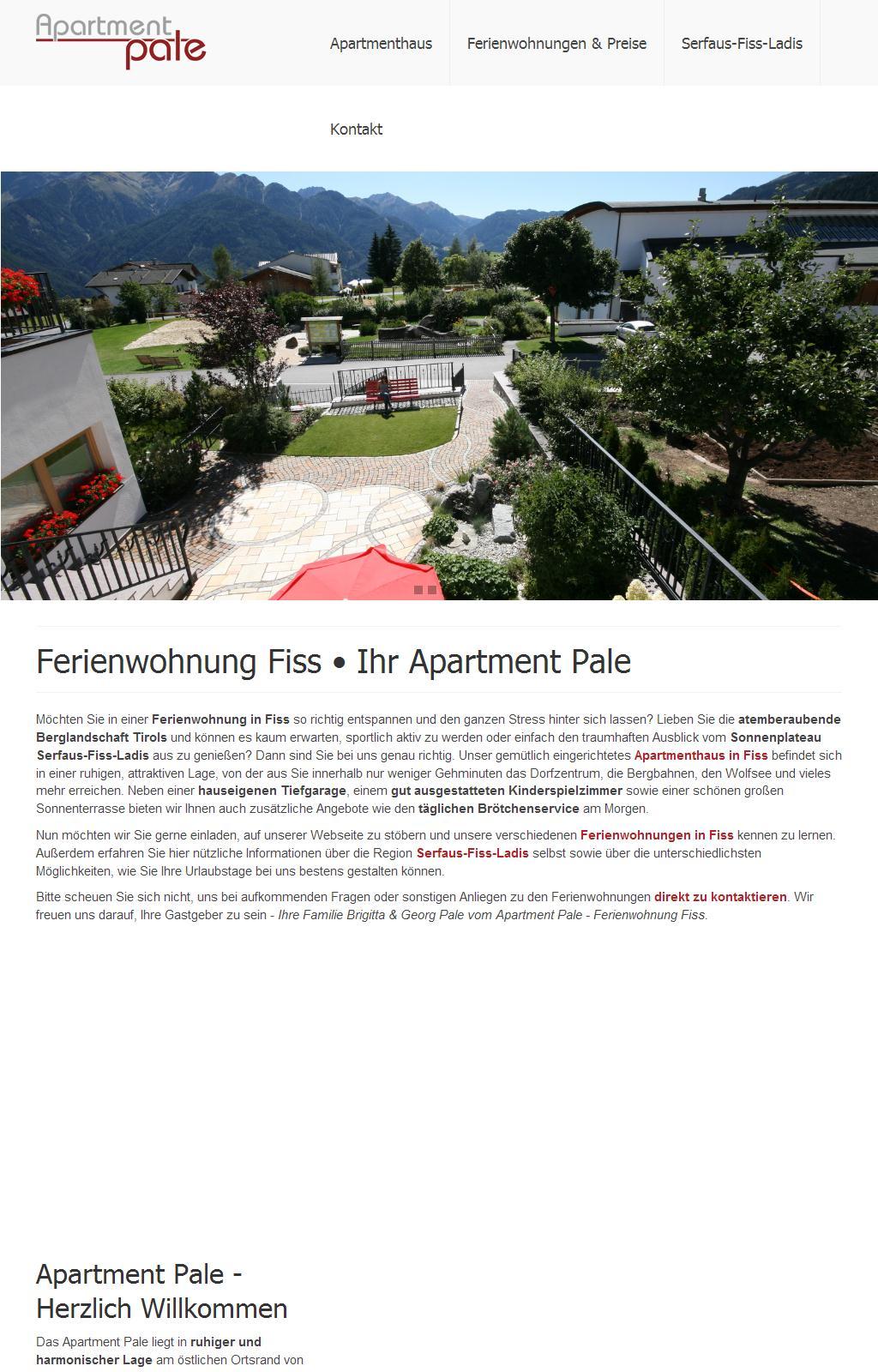Ferienwohnungen in Fiss in Tirol - Apartment Pale (Serfaus-Fiss-Ladis) in Österreich