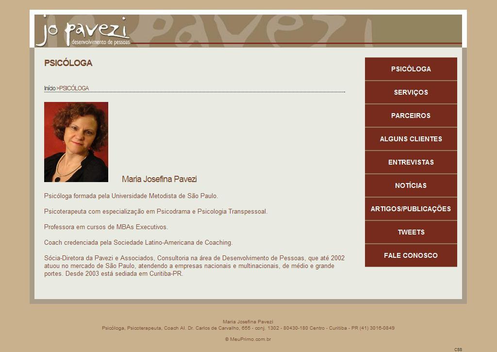 Maria Josefina Pavezi - JoPavezi - Desenvolvimento de pessoas
