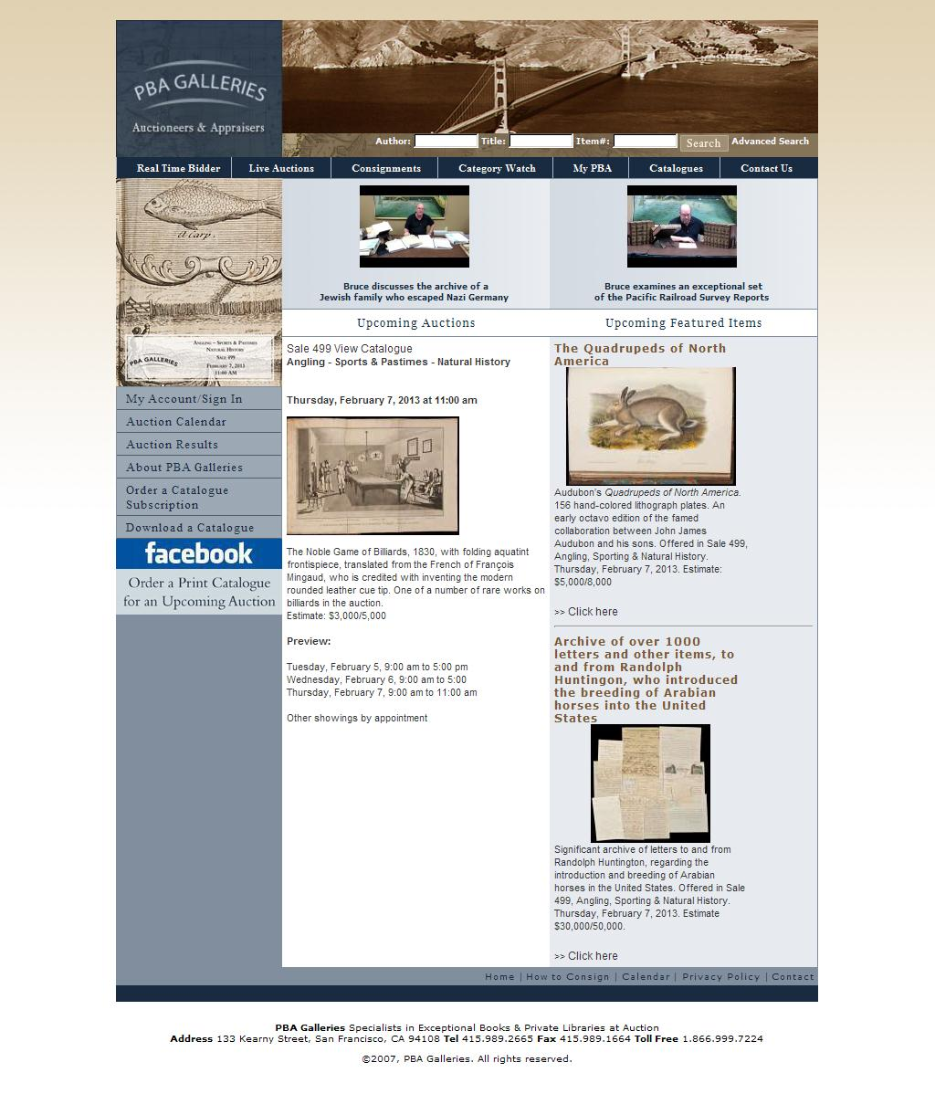 Rare Books - PBA Galleries, Auctions & Appraisers