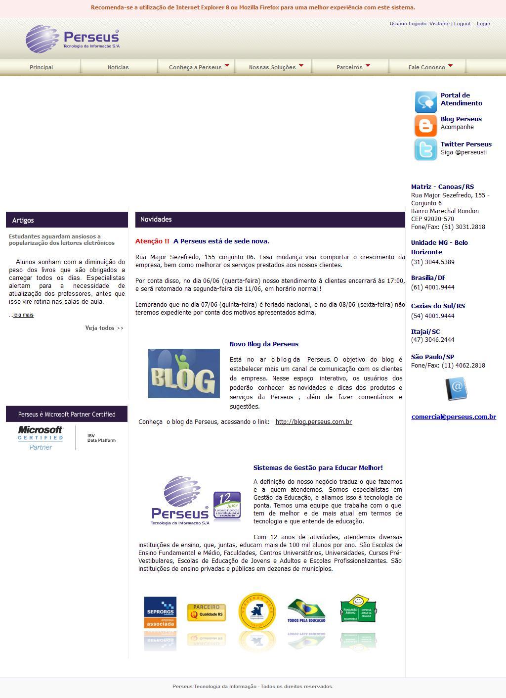 Perseus Tecnologia da Informação S/A - Sistemas de gestão para educar melhor
