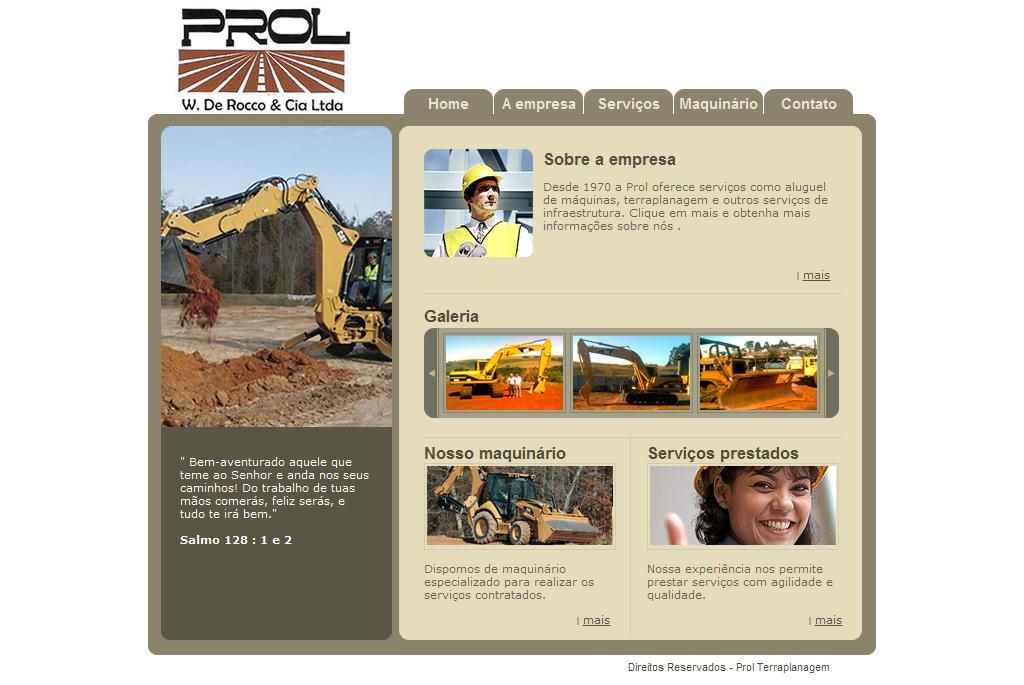 Prol Terraplanagem - Serviços de terraplanagem, locação de tratores,          máquinas e caminhões