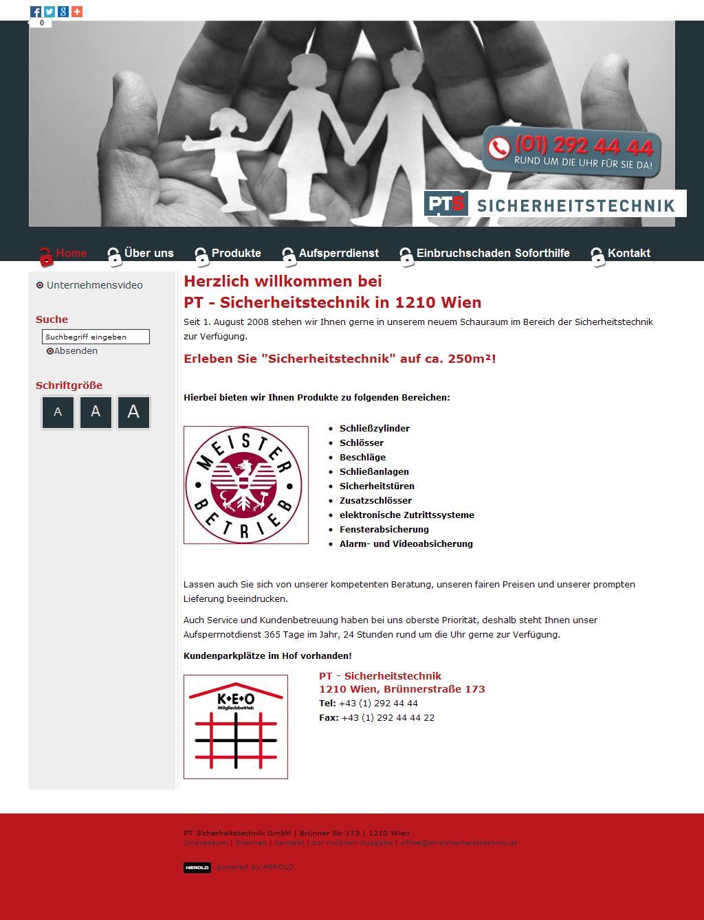 Sicherheitstechnik Wien - PT-Sicherheitstechnik - PT Sicherheitstechnik GmbH