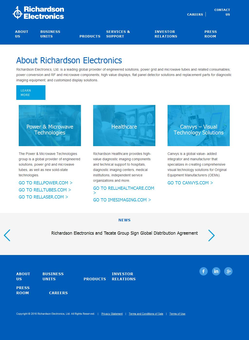Electronic Components and Display Technology - Richardson Electronics