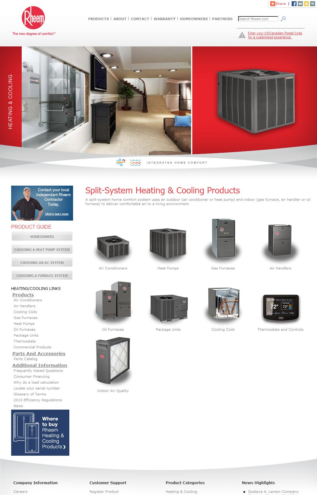 Air Conditioning, Heating and Cooling Solutions from Rheem