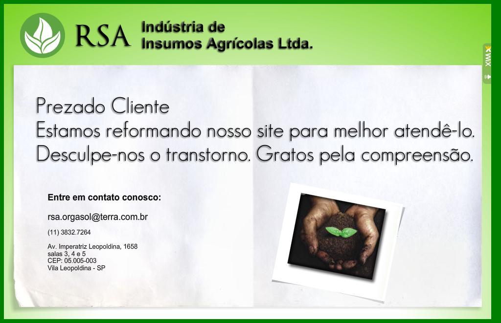 .: RSA Ind&uacutestria de Insumos Agr&iacutecolas Ltda :.