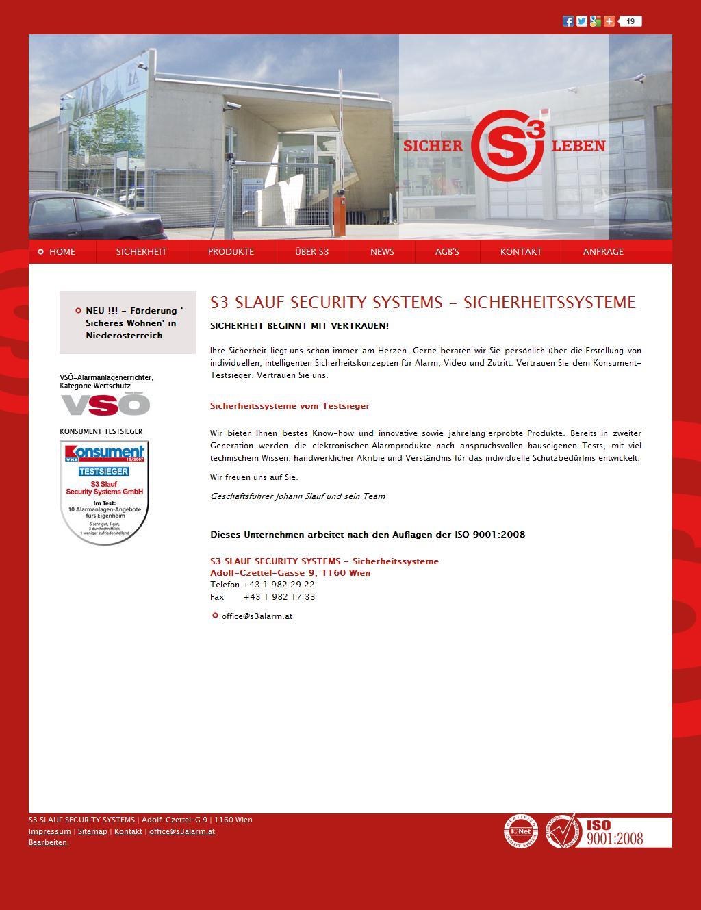Sicherheitssysteme - S3 SLAUF SECURITY SYSTEMS