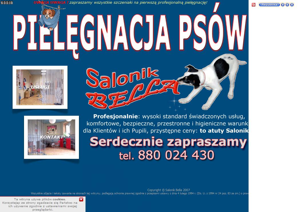 Sitios Web De Bella Salonik Pielęgnacji Psów Trade Nosis