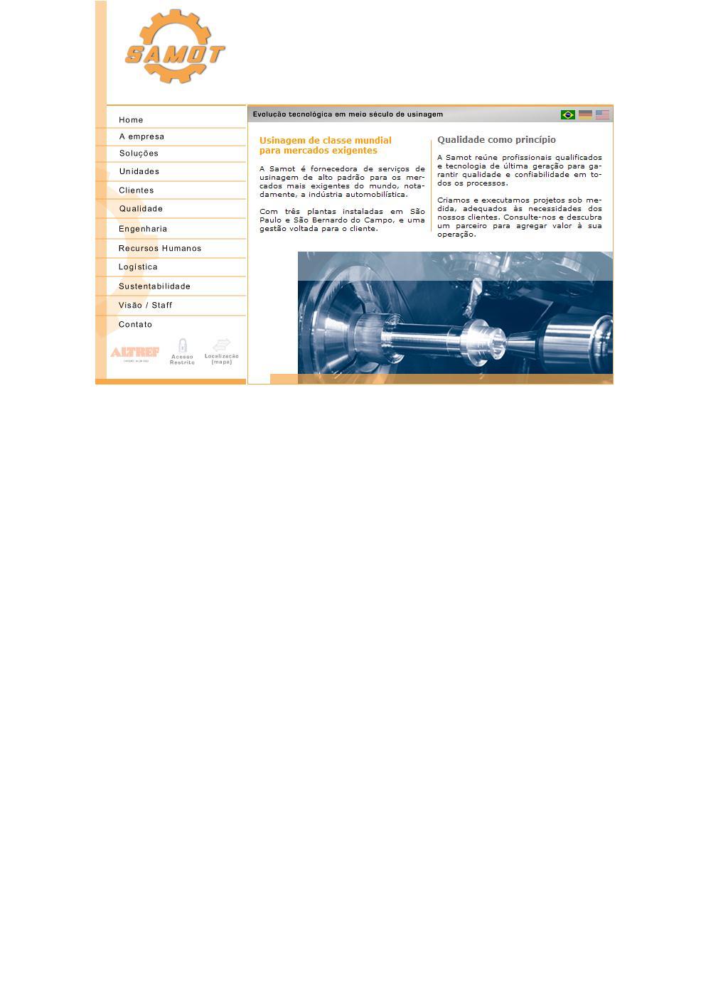 Samot - Tecnologia e precisão na indústria mecânica