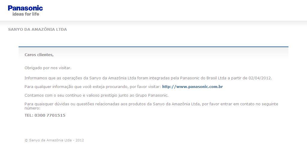 .: Sanyo da Amazônia Limitada :.