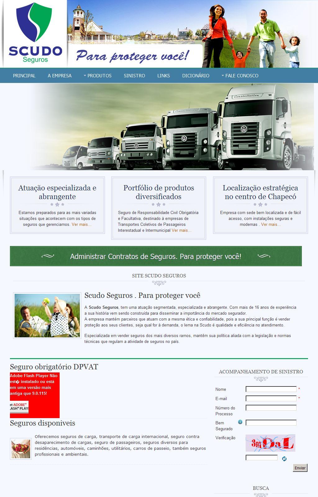 Seguro para cargas, automóveis e residências. Scudo Seguros – Chapecó SC