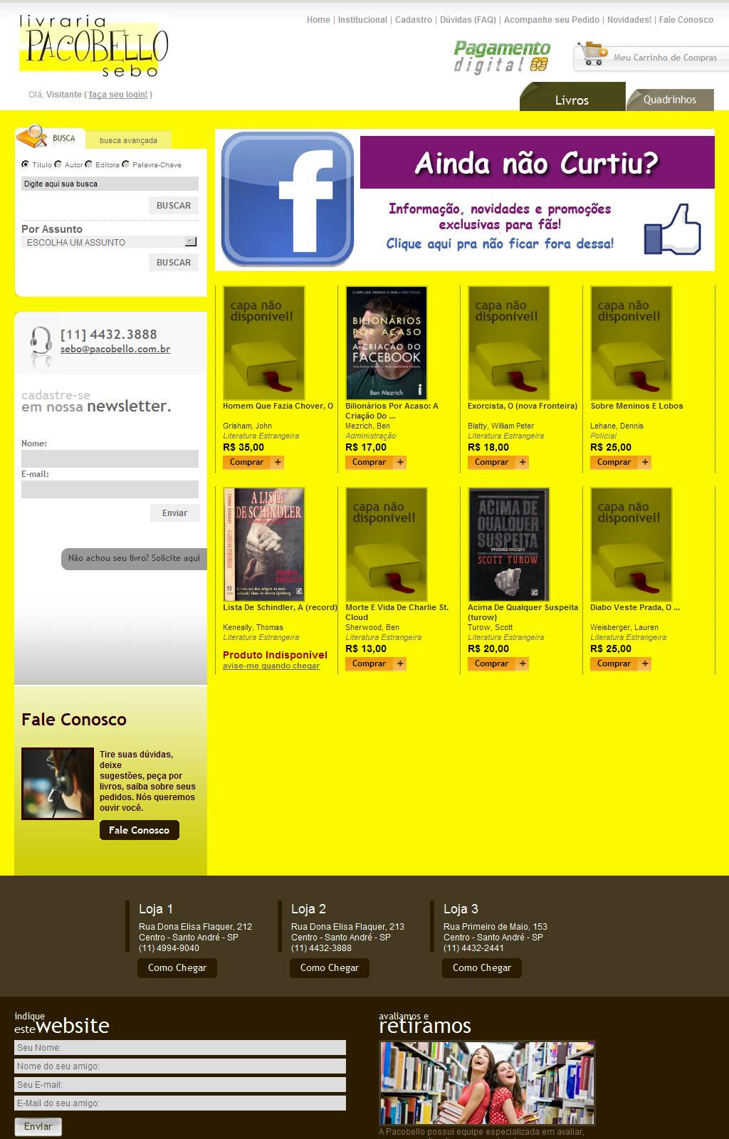 Livros, DVDs, Revistas - Sebo Pacobello