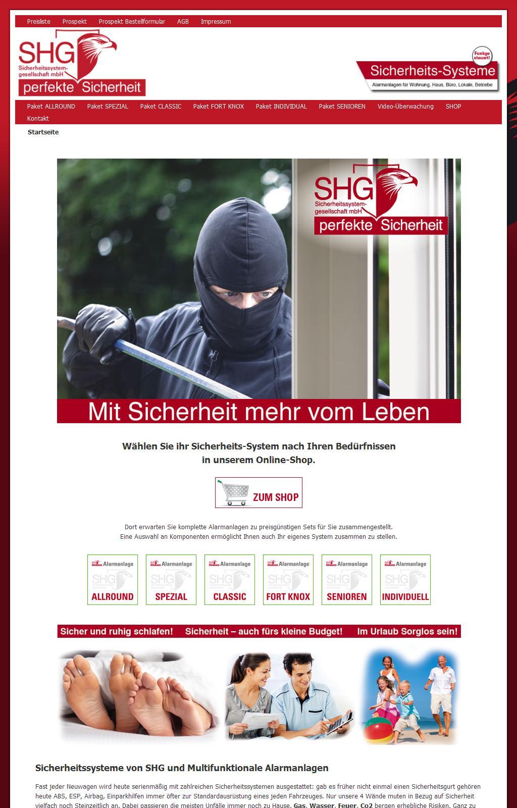 Sicherheitssysteme von SHG und Multifunktionale Alarmanlagen