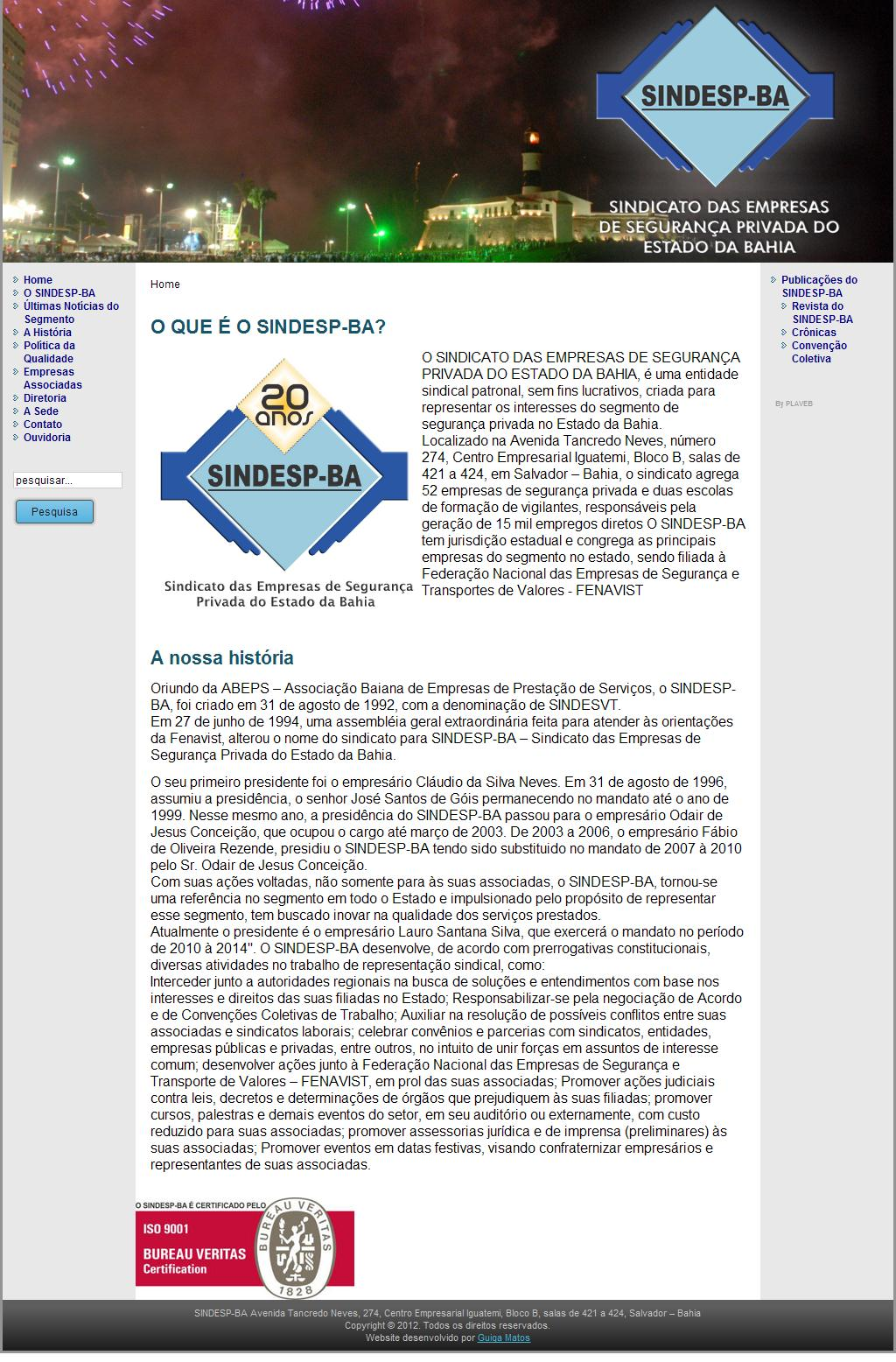 SINDESP-BA Sindicato das Empresas de Segurança Privada do Estado da Bahia