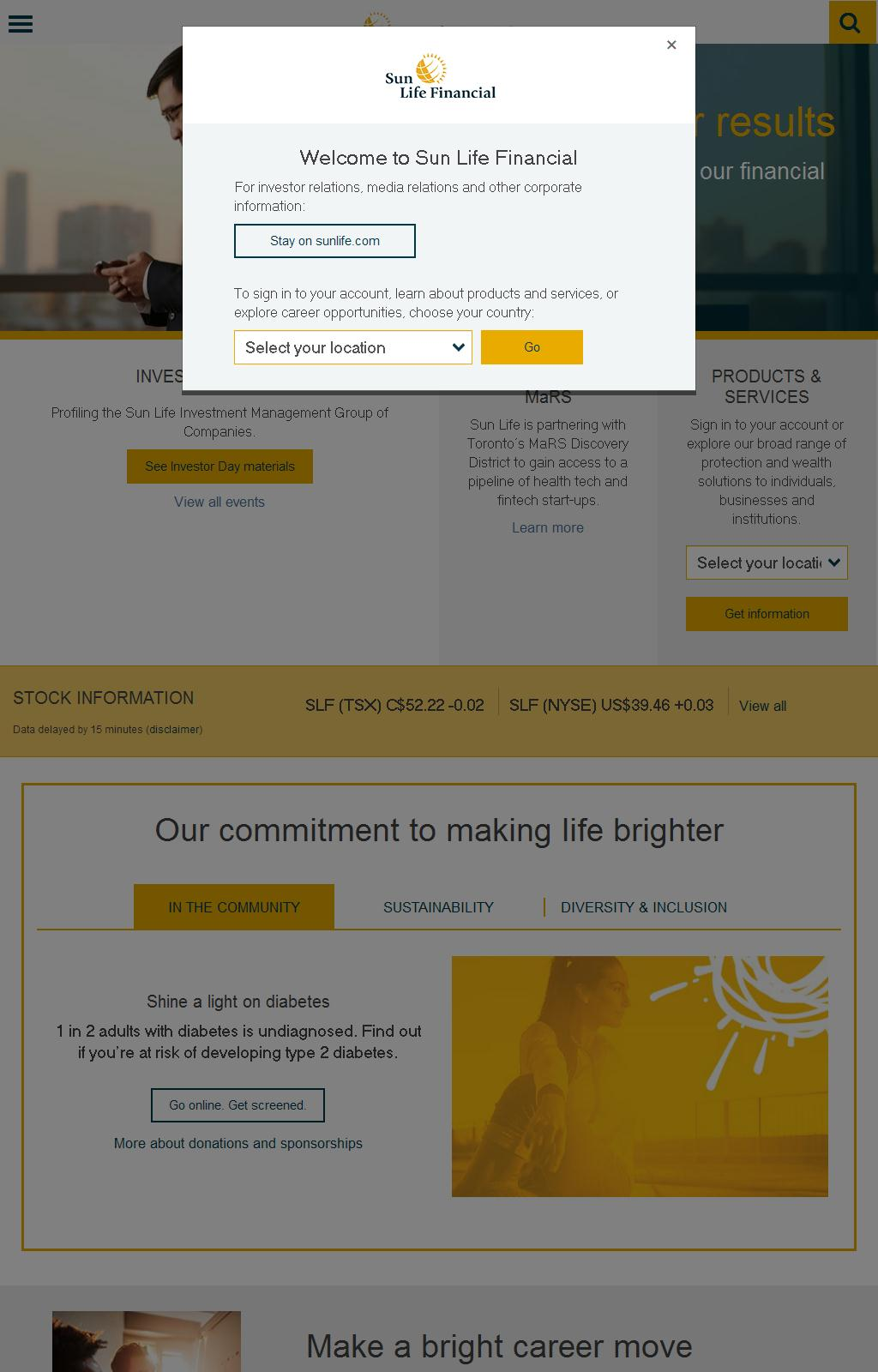 Sun Life Financial - Sun Life Financial Home – financial services company, financial planning company