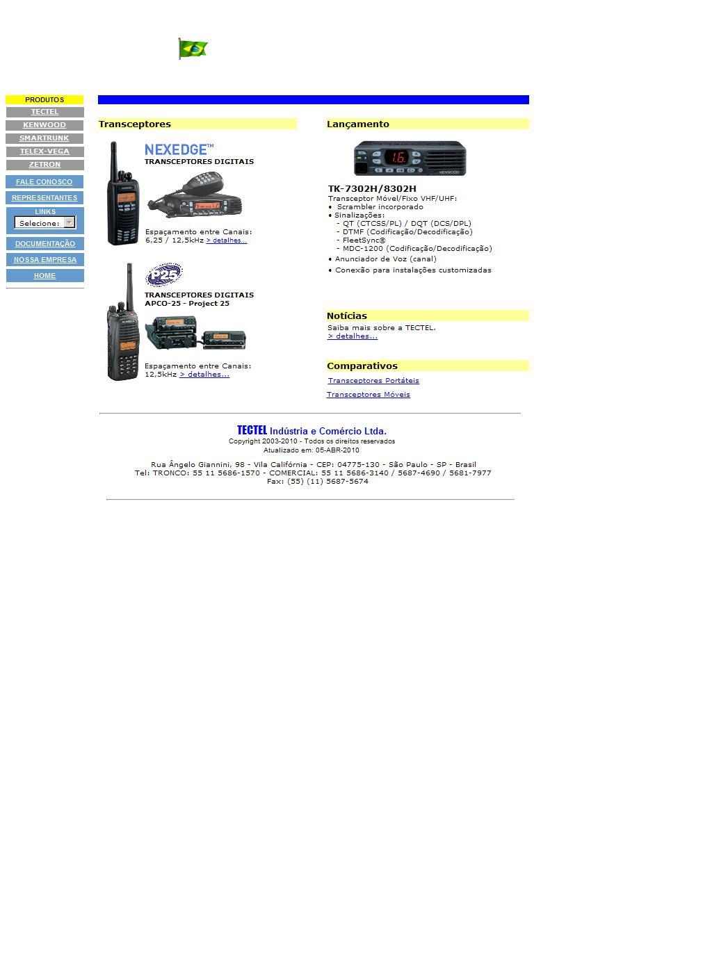 Tectel Ind. Com. Ltda - Sistemas de Radiocomunicação