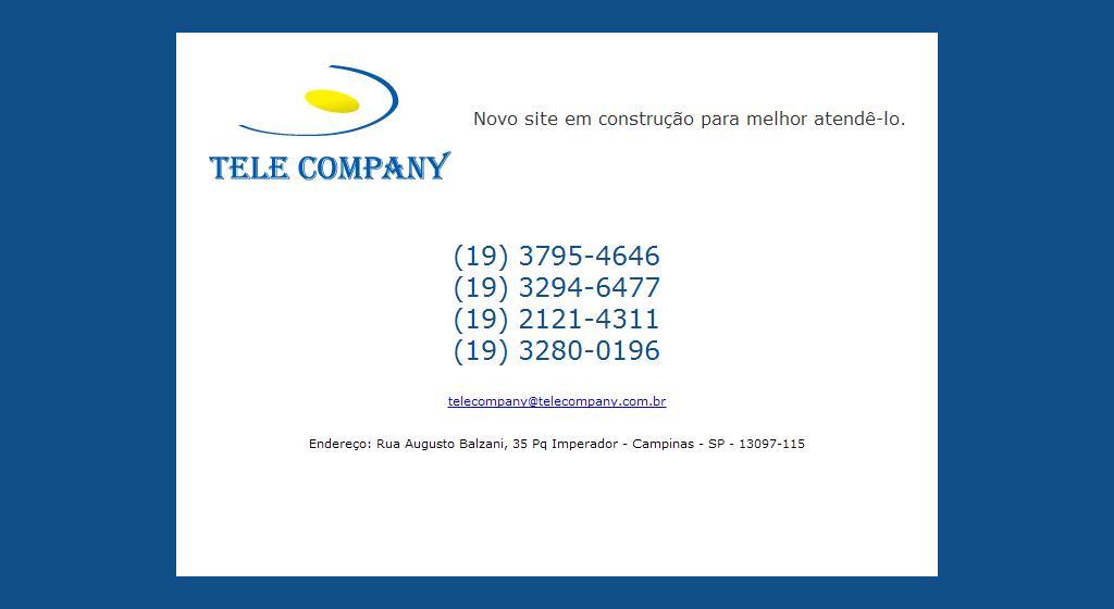 Bem vindo à Tele Company - Página em construção