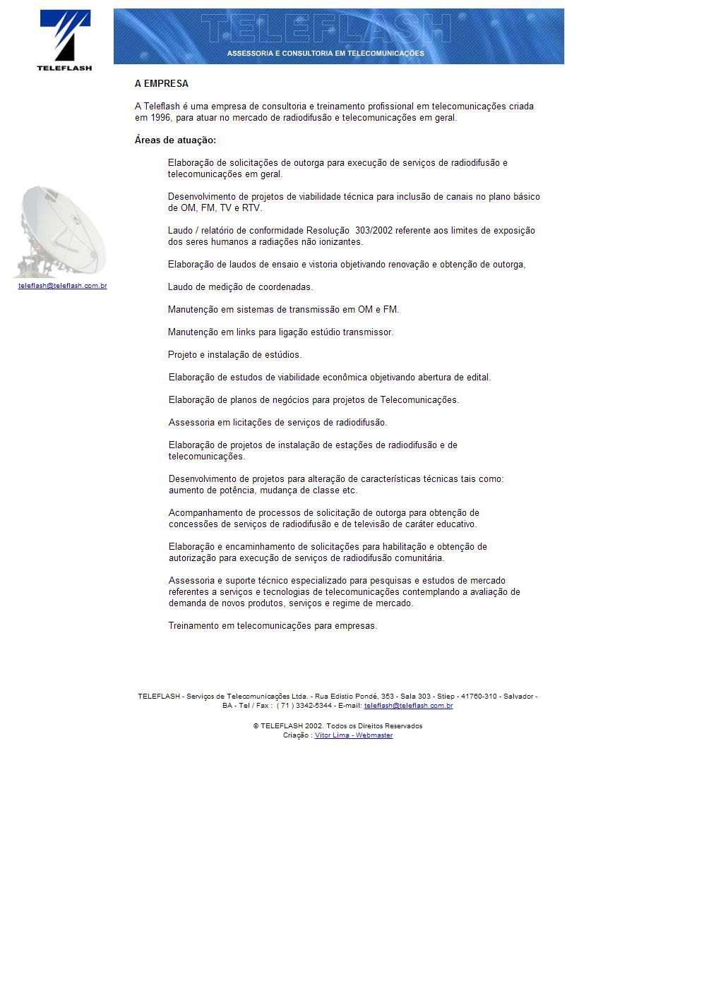 Teleflash - Assessoria e Consultoria em Telecomunicações