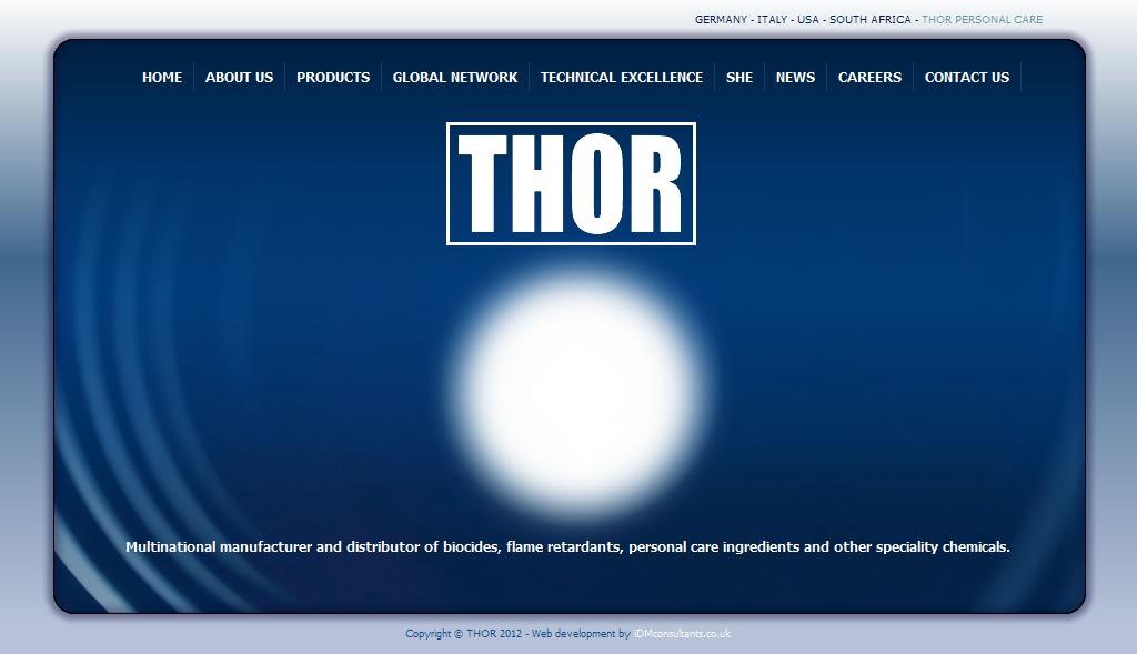 THOR - Multinational manufacturer and distributor of biocides, flame retardants, personal care ingredients and other speciality chemicals.