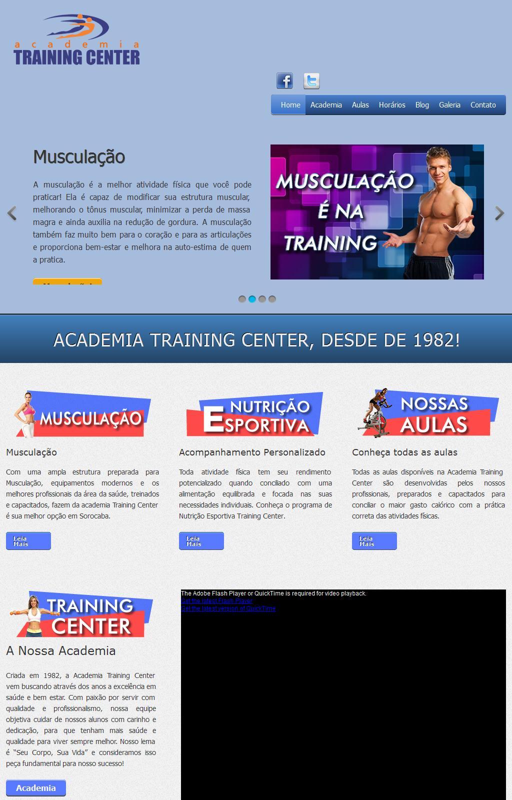 Academia de Ginástica e Musculação em Sorocaba Training Center