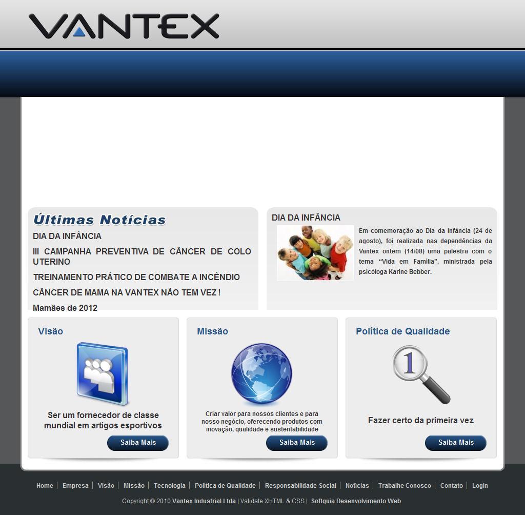 VANTEX Industrial Ltda - Confecção de artigos esportivos, Agasalhos, Shorts, Camisetas