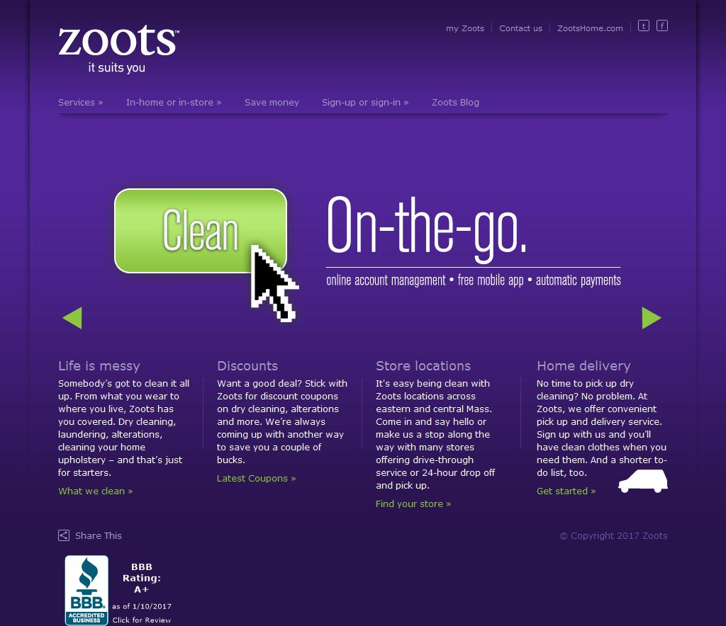 zoots dry cleaning essay Zoots offers laundering, tailoring and dry cleaning the company also provides home/office pick up and delivery, in home carpet, upholstery and tile and grout cleaning.