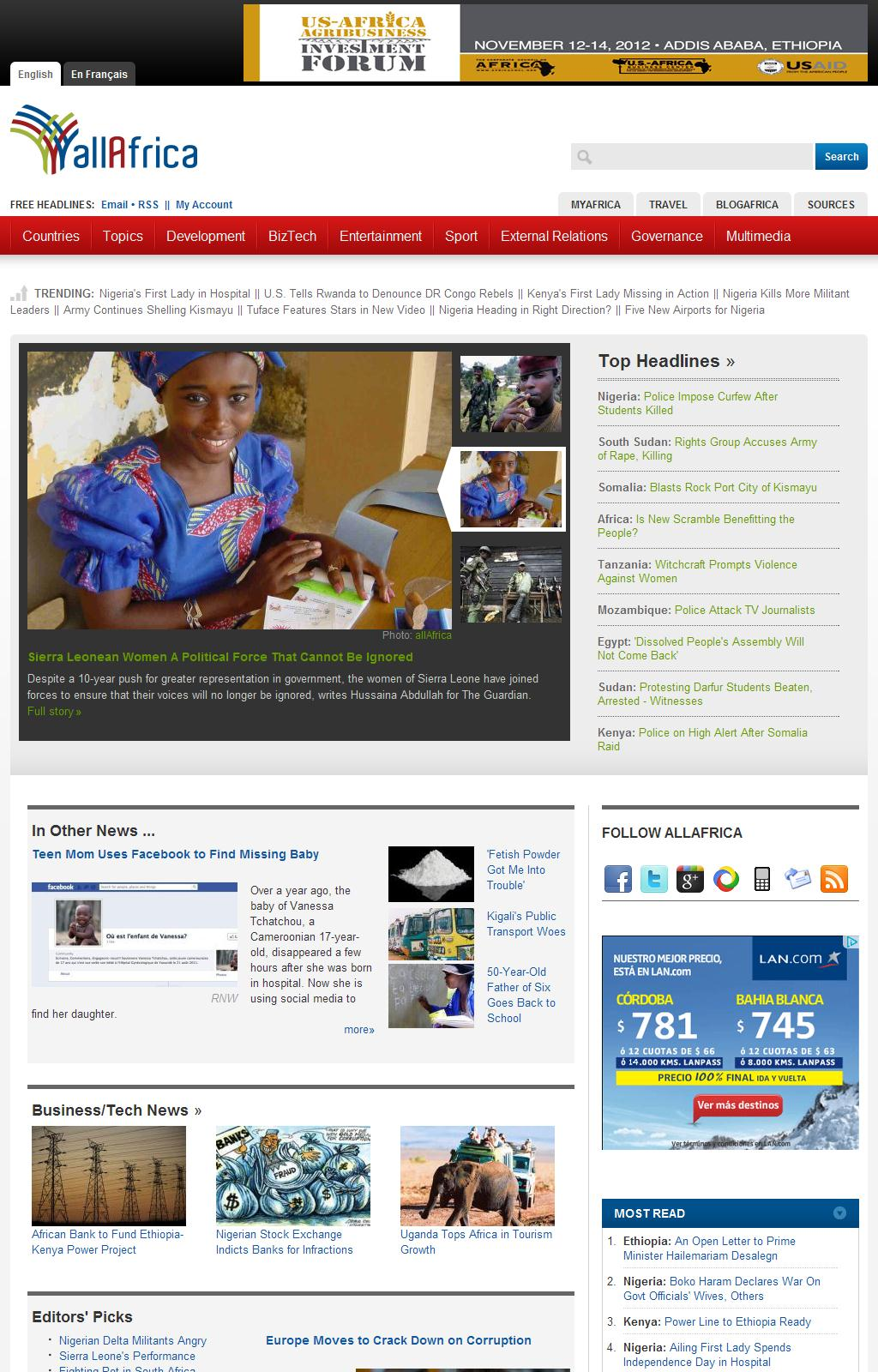 allAfrica.com: Home