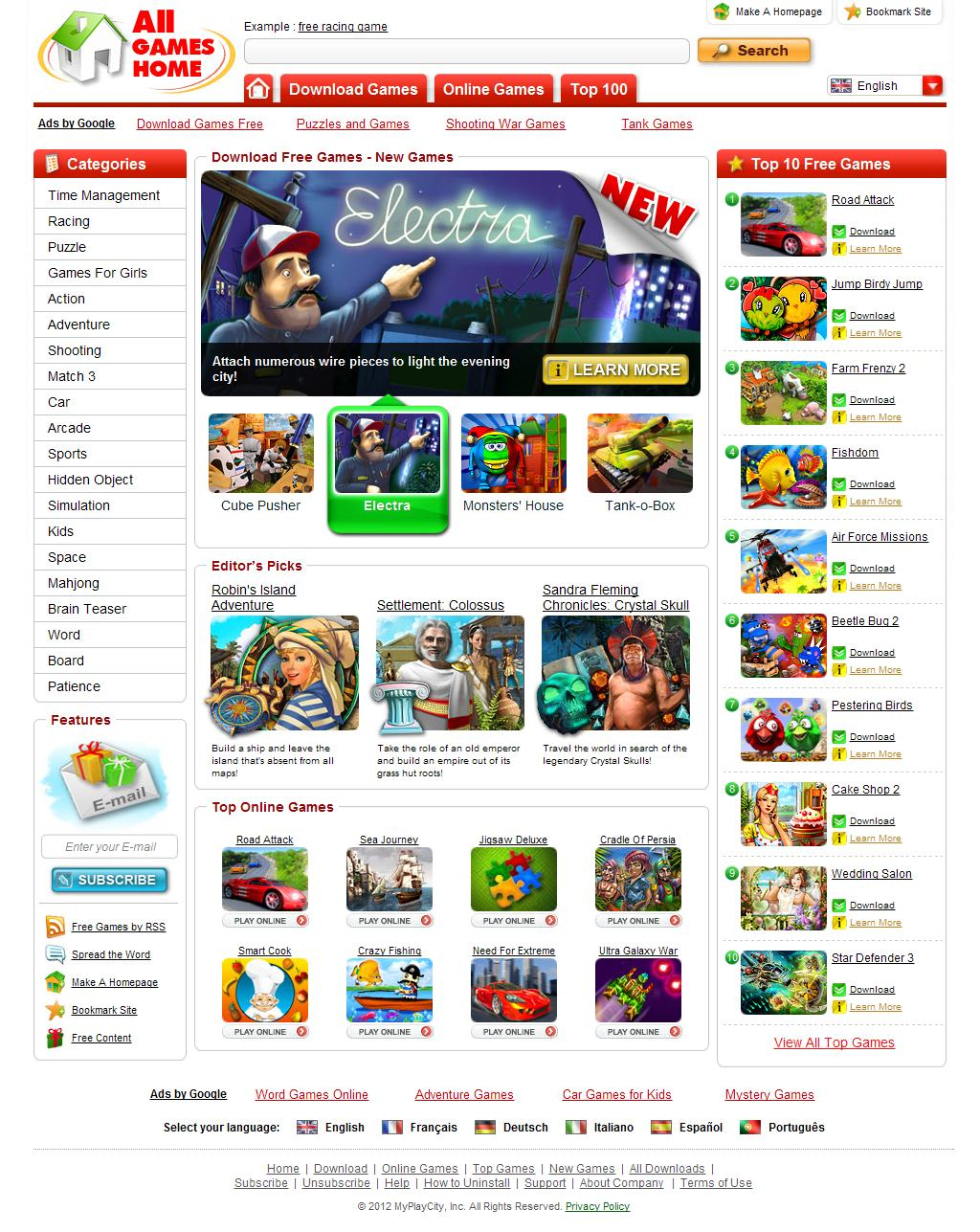 All Games Home - Download Free Games - Play Free Games!