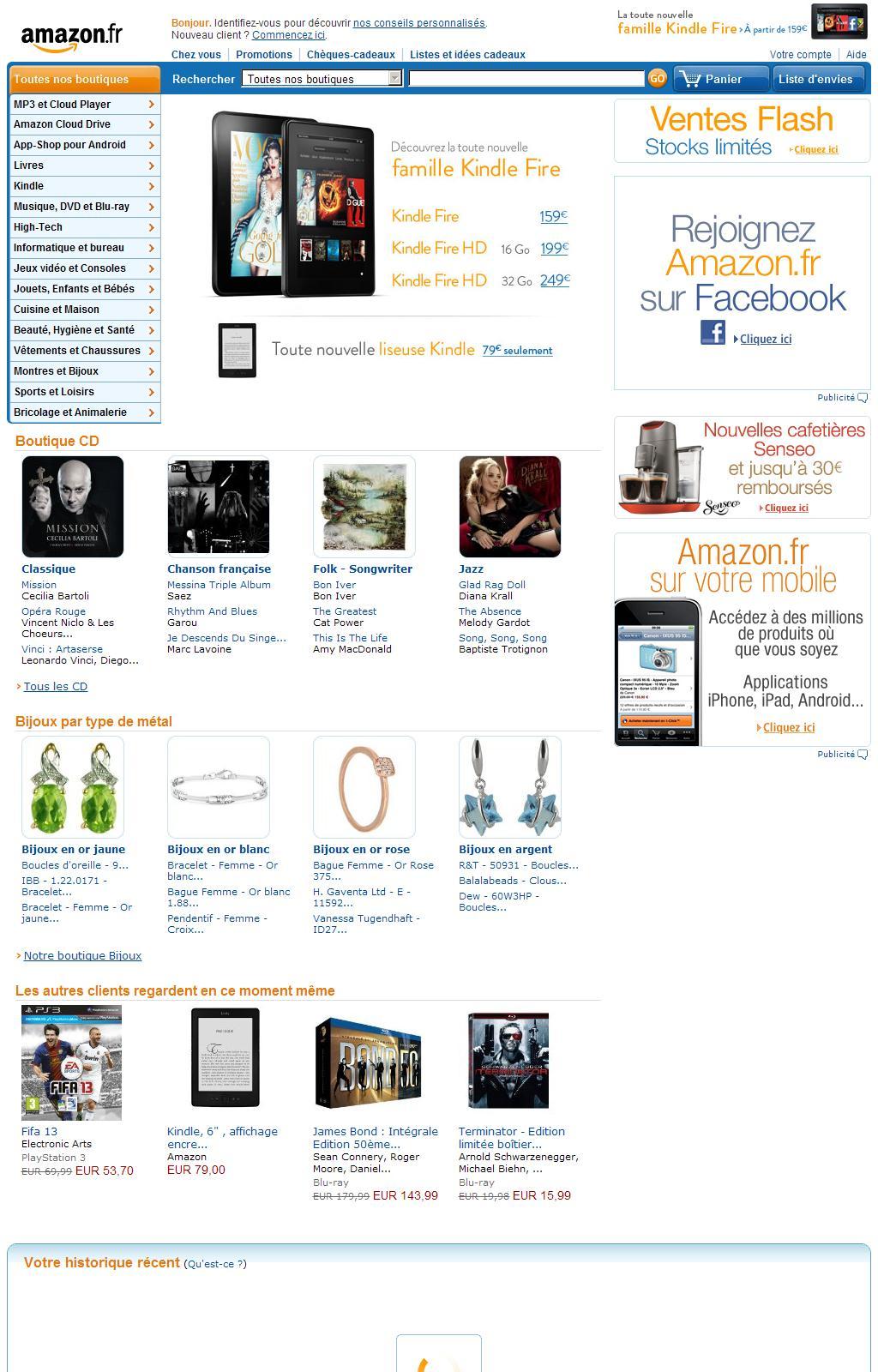 Amazon.fr : livres, DVD, jeux vidéo, CD, lecteurs MP3, ordinateurs, appareils photo, logiciels et plus encore !