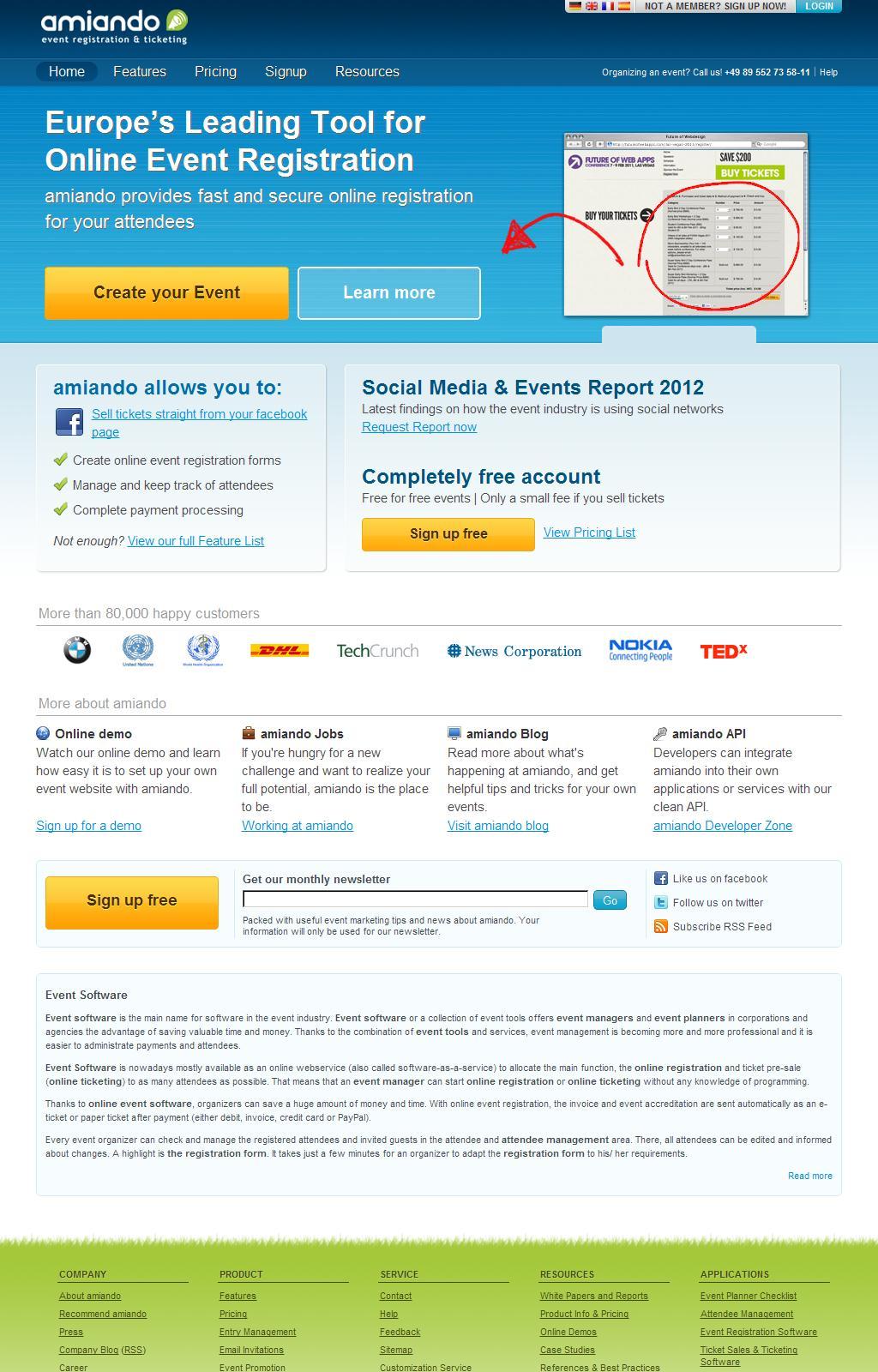 Online Event Registration Software - amiando.com