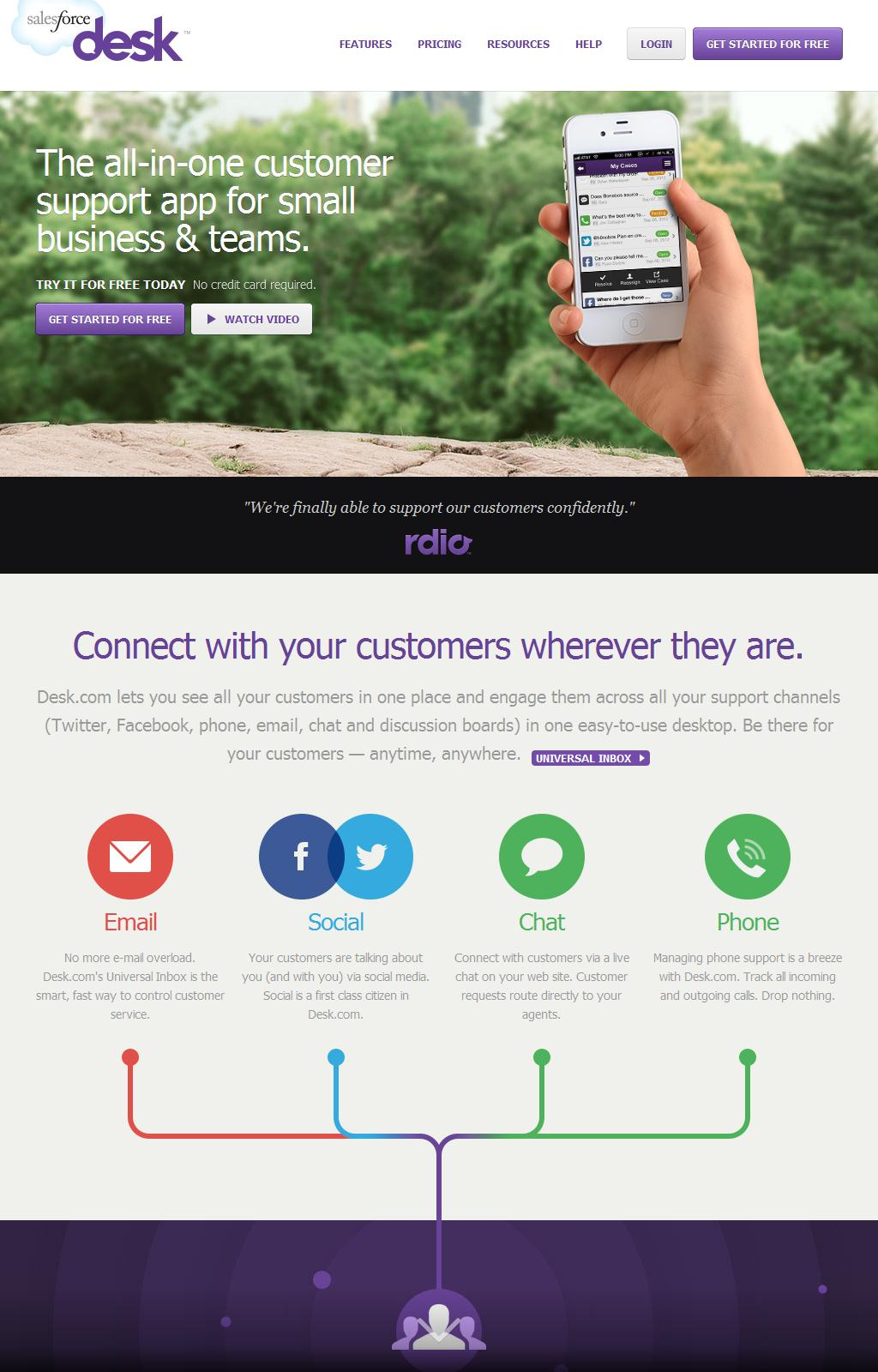 Desk.com                             - The Customer Support App for Small Business and Growing Teams