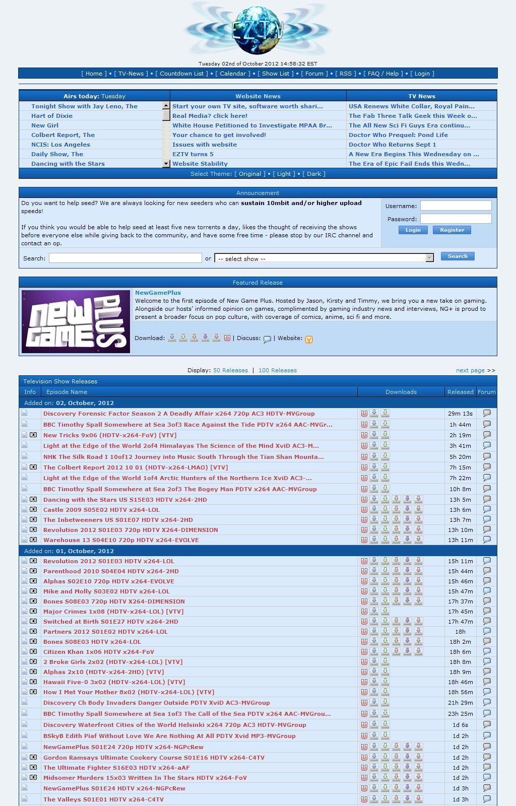 EZTV - TV Torrents Online