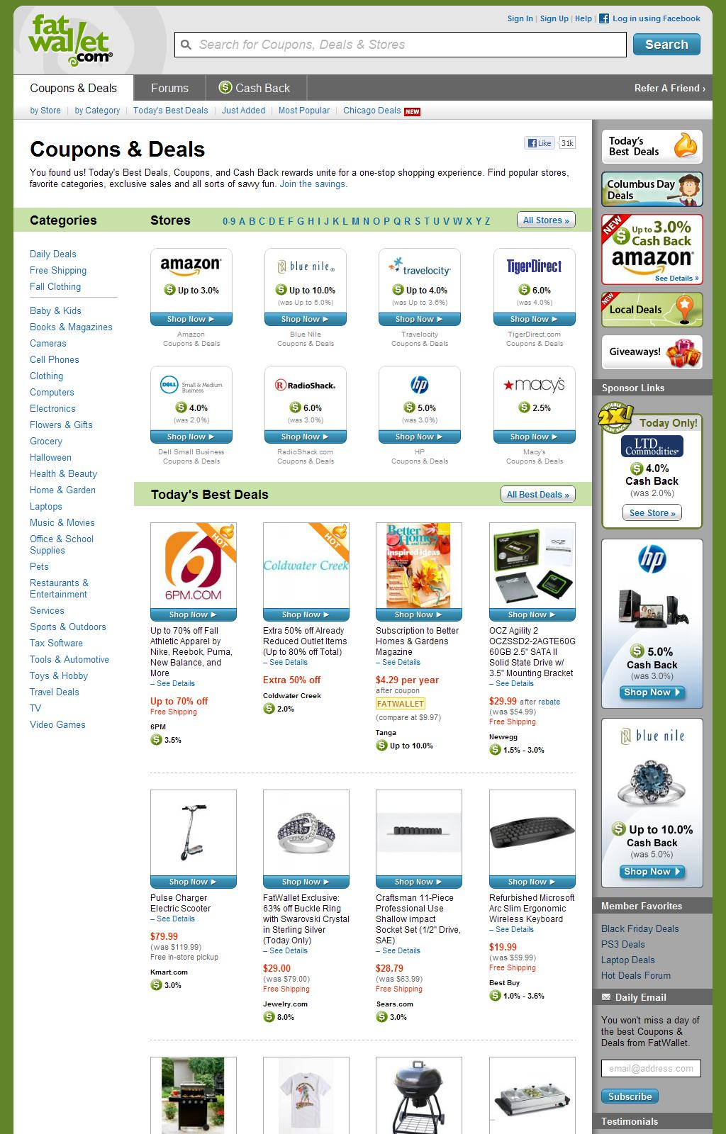 Coupons and Deals: Save money with online coupons and coupon codes
