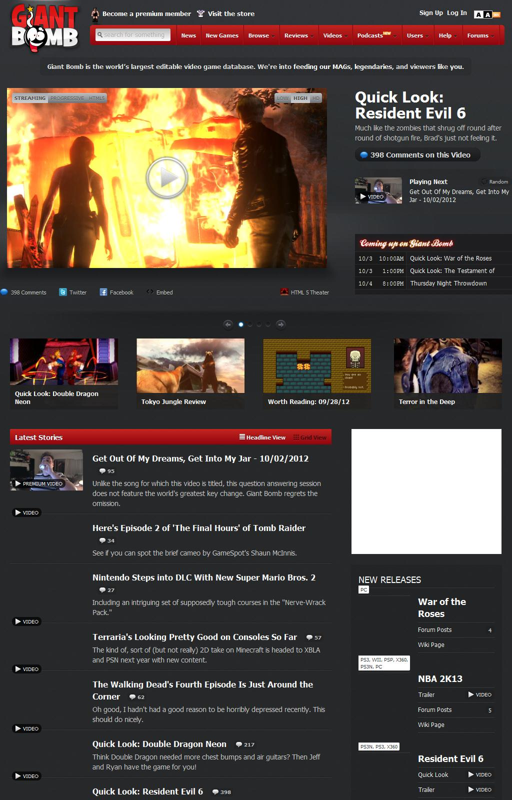 GiantBomb.com ~ Video Game Reviews, News, Videos & Forums - Giant Bomb