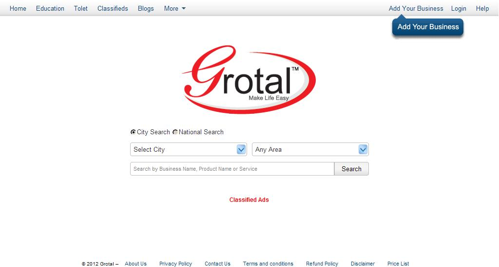 Search Anything In India :: Grotal.com