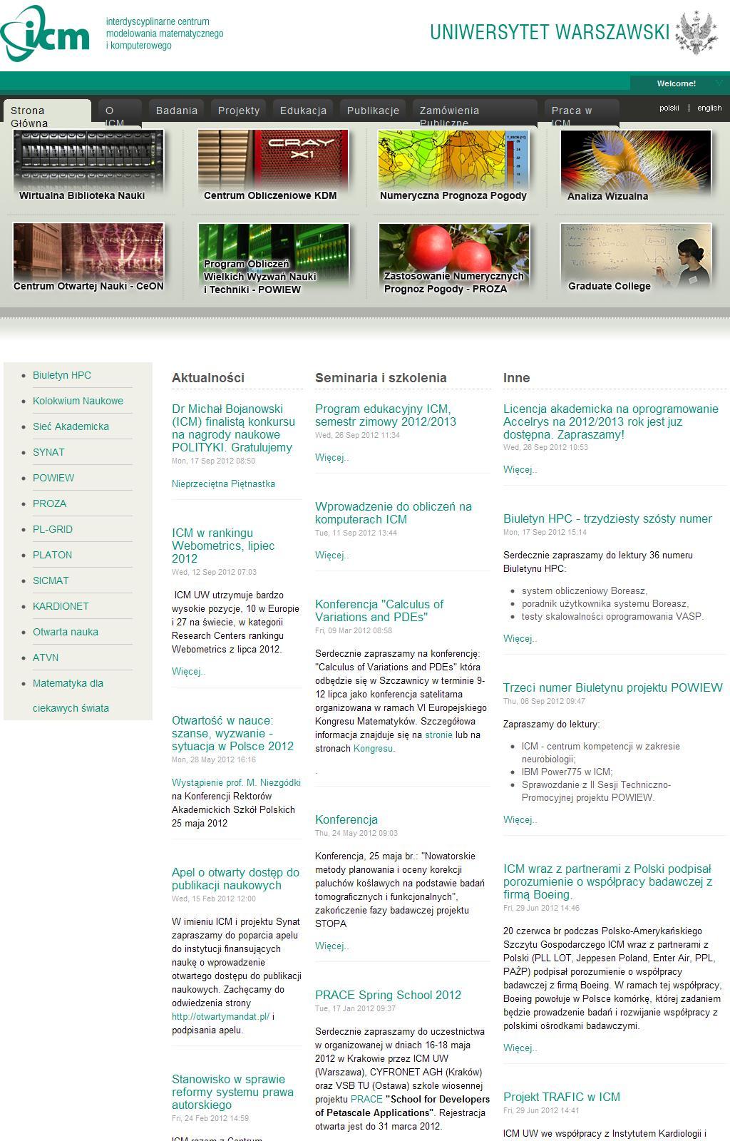 Strona Główna - icm.edu.pl