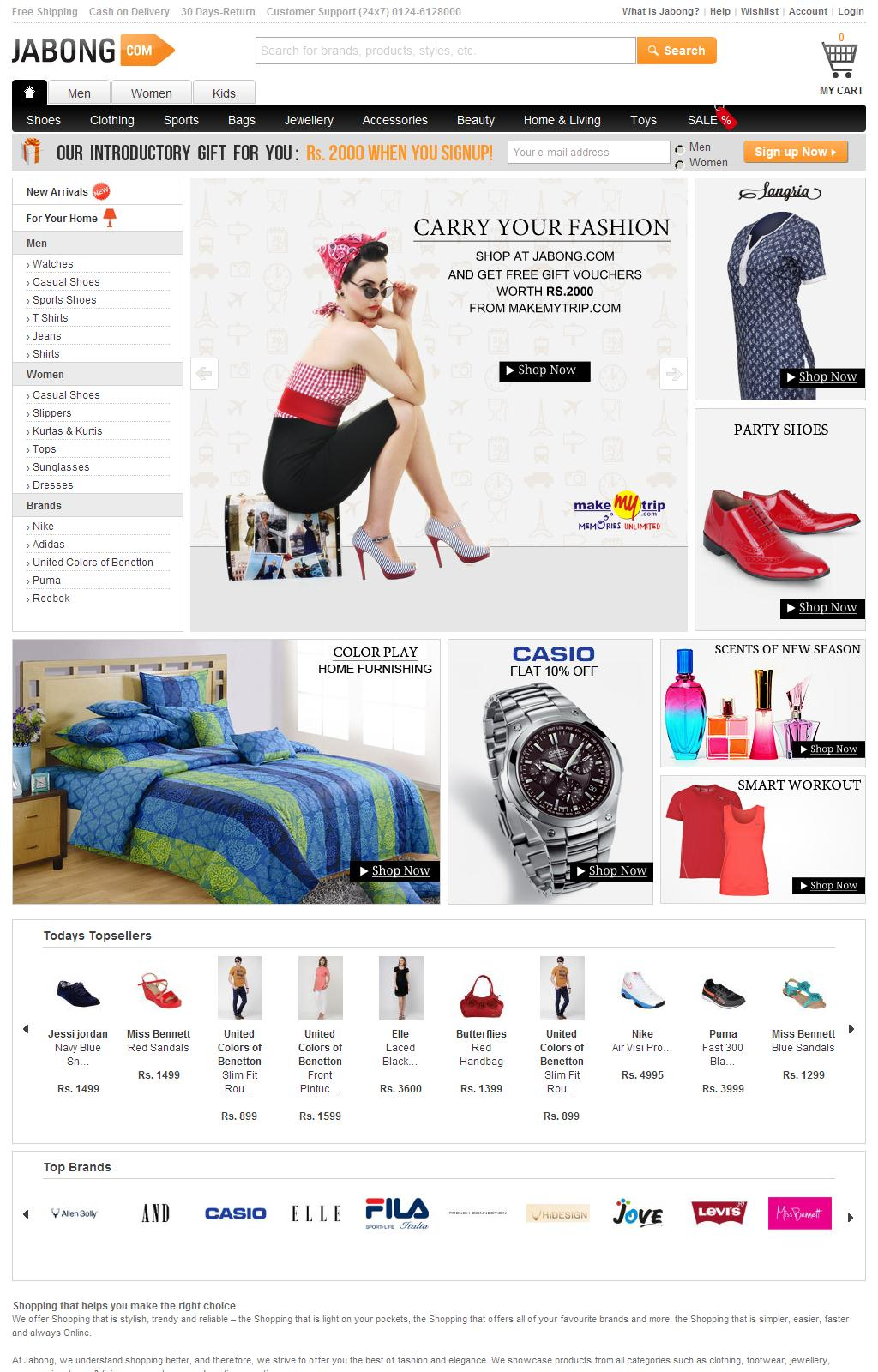 Online Shopping India – Shoes, Clothing, Accessories, Bags   Jabong.com