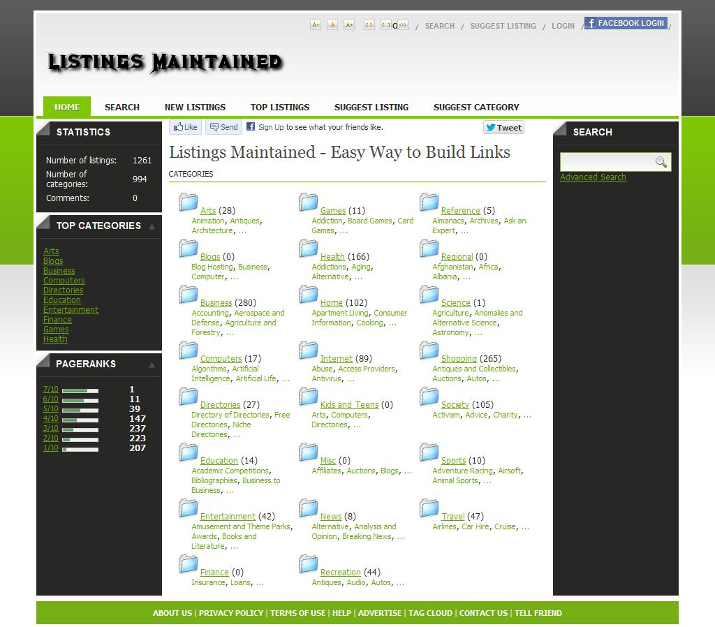 Listings Maintained - Easy Way to Build Links