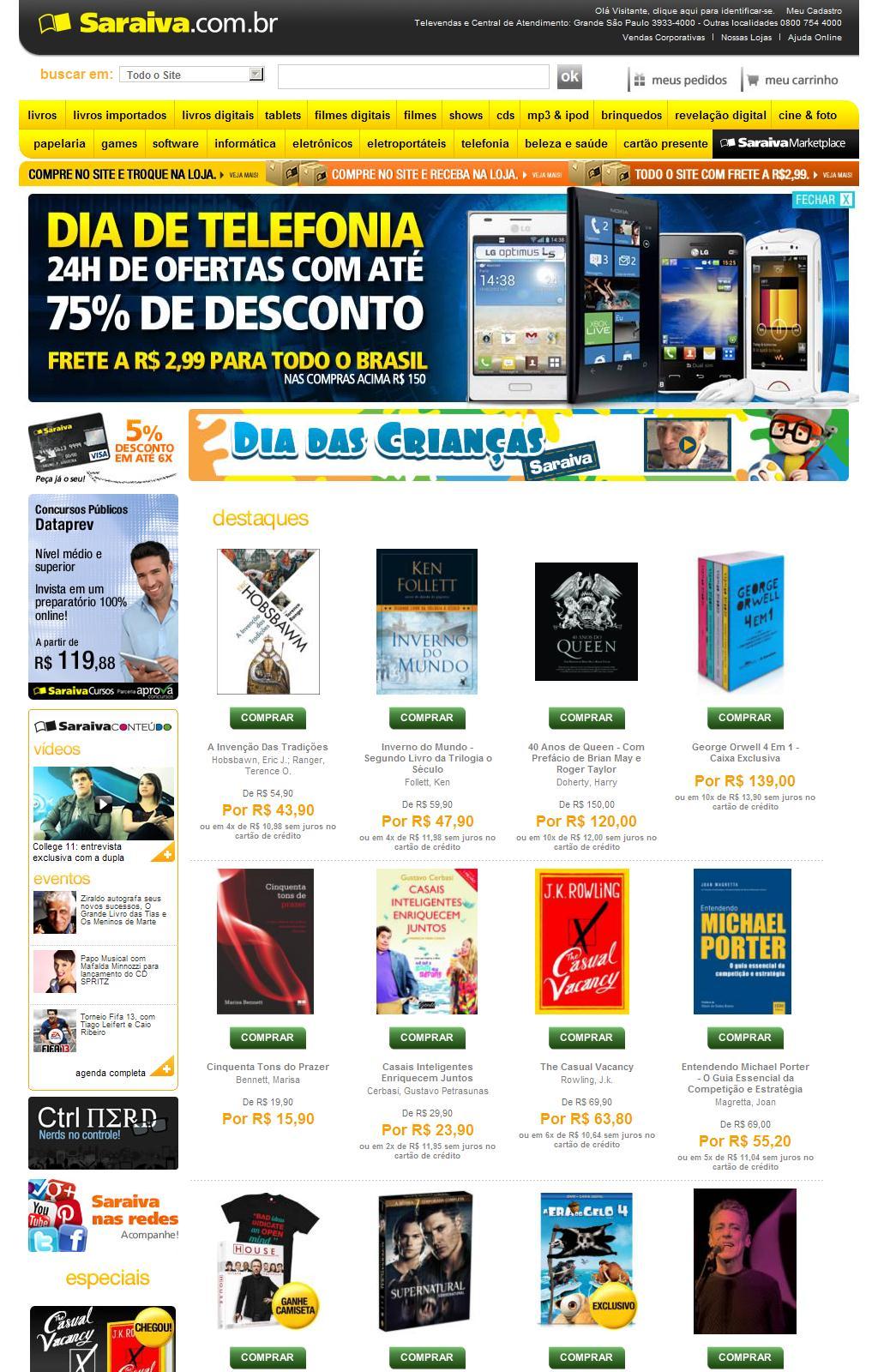 Saraiva.com.br: Livros, Tablets, Blu-Ray, Eletrônicos, Notebooks, Smartphones e mais.