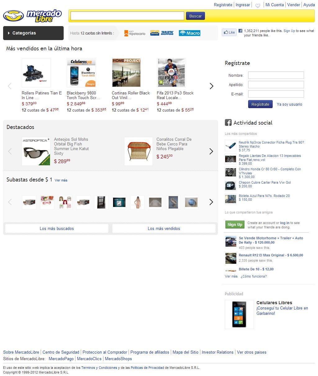 MercadoLibre Argentina - Donde comprar y vender de todo.