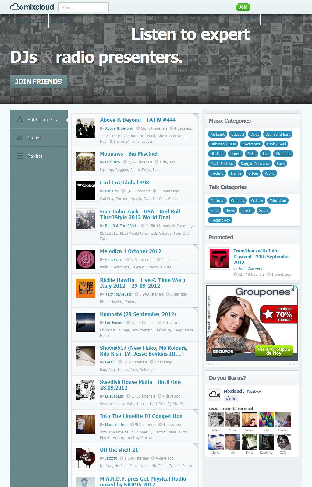 Home Dashboard   Mixcloud - Re-think radio